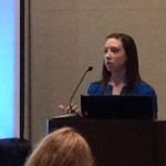 Current graduate student, Elizabeth Siembida presenting at 2014 Society of Behavioral Medicine Conference
